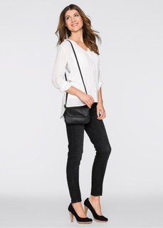 Небольшая базовая сумочка на ремне через плечо (черный) Bonprix