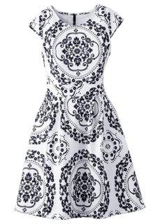 Платье под неопрен (синий/белый) Bonprix