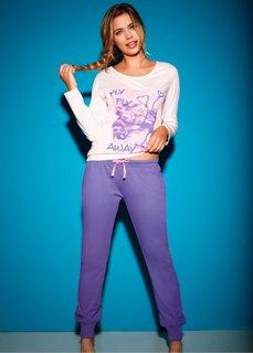 Пижама (нежно-розовый с рисунком) Bonprix