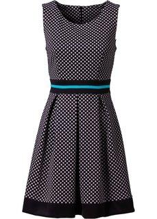 Платье (темно-синий в горошек) Bonprix