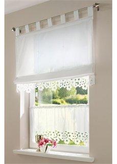 Римская штора Дори, петли (белый) Bonprix