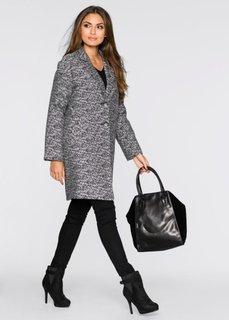 Пальто (черный/белый) Bonprix