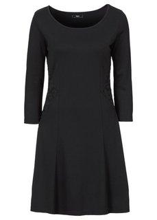 Платье из трикотажа Punto Di Roma с рукавом 3/4 (клубничный) Bonprix