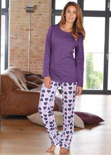 Пижама (лиловый с принтом) Bonprix