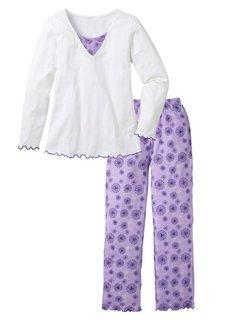 Пижама (серый с рисунком) Bonprix