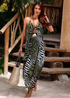 Пляжное платье (оливково-зеленый с рисунком зе) Bonprix