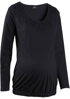 Мода для беременности и после родов: футболка с длинным рукавом (сине-зеленый) Bonprix