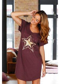 Ночная рубашка (кленово-красный/золотистый с п) Bonprix