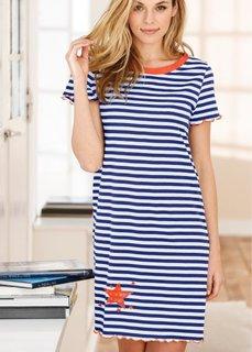 Ночная сорочка (цвет белой шерсти/синий в поло) Bonprix
