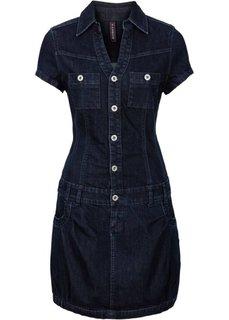 Джинсовое платье (синий «потертый») Bonprix