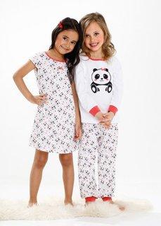 Пижама + ночная сорочка (3 изд.), Размеры 92/98-152/158 (омаровый/белый) Bonprix