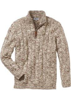 Пуловер Regular Fit (меланжевый индиго) Bonprix