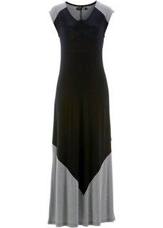Трикотажное платье (омаровый/белый) Bonprix
