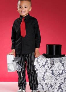 Рубашка + галстук или галстук-бабочка (2 изд.) (черный) Bonprix