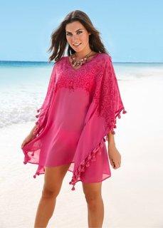 Пляжная туника (ярко-розовый) Bonprix