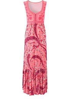 Макси-платье (черный/лиловый) Bonprix