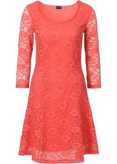 Платье с кружевом (черный) Bonprix