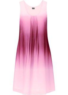 Шифоновое платье (серый батик/синий) Bonprix
