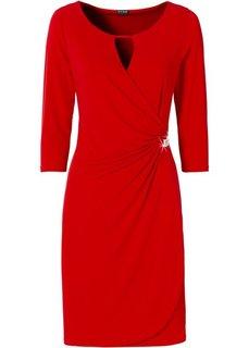 Трикотажное платье (темно-лиловый) Bonprix
