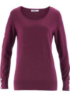 Пуловер с длинным рукавом (бирюзовый матовый) Bonprix