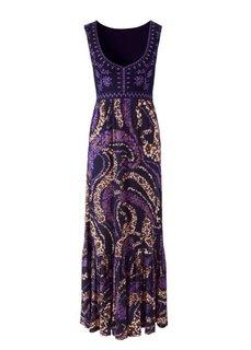 Макси-платье (коралловый/белый) Bonprix