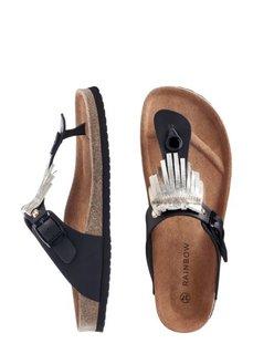 Кожаные пантолеты (черный) Bonprix