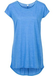 Удлиненная футболка (серый с рисунком) Bonprix