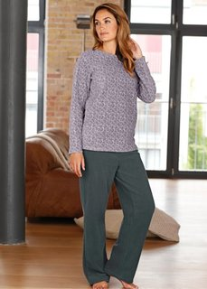 Флисовая пижама (антрацитовый с рисунком) Bonprix
