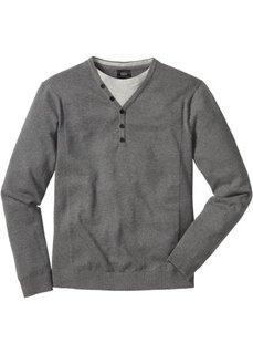 Пуловер 2 в 1 Regular Fit (темно-красный) Bonprix