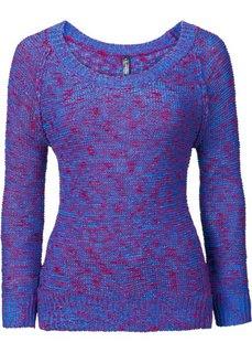 Пуловер (оранжевый/ярко-розовый) Bonprix