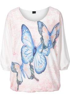 Трикотажная блузка (нежная мята с рисунком) Bonprix