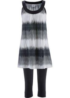 Платье + легинсы-капри (2 изд.) (фисташковый/белый с рисунком +) Bonprix