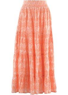 Макси-юбка дизайна Maite Kelly (белый/небесно-голубой с принто) Bonprix