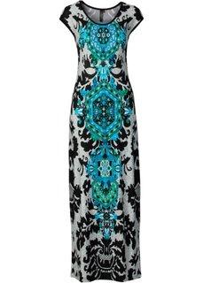 Трикотажное макси-платье (черный/белый/красный) Bonprix
