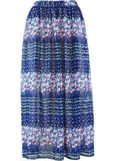 Шифоновая юбка с цветочным принтом (серо-коричневый с рисунком) Bonprix