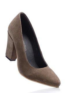 Замшевые туфли (светлый камыш) Bonprix