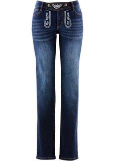 Прямые джинсы в традиционном стиле (синий «потертый») Bonprix