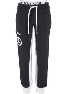 Трикотажные брюки (светло-серый меланж/лососевый ) Bonprix
