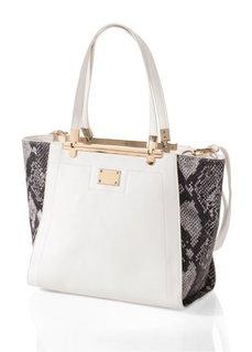 Двухцветная сумочка (черный/телесный) Bonprix