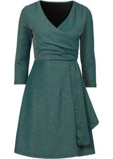 Трикотажное платье с люрексом (лиловая фиалка/золотистый) Bonprix
