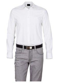 Элегантный кожаный ремень для мужчин (черный) Bonprix