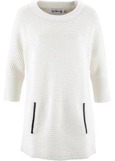 Структурный пуловер дизайна Maite Kelly с рукавом 3/4 (дымчато-розовый) Bonprix