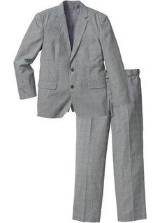 Пиджак + брюки (2 изд.), cредний рост (N) (светло-серый с узором) Bonprix
