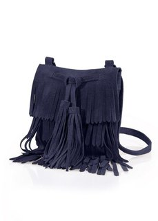 Кожаная сумка с бахромой (черный) Bonprix