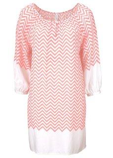 Платье (черный/цвет белой шерсти) Bonprix