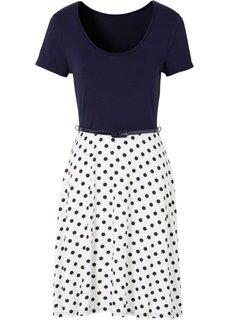 Трикотажное платье (черный/коралловый) Bonprix