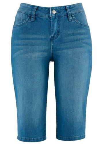 Джинсовые бермуды-стретч, cредний рост (N) (нежно-голубой выбеленный)