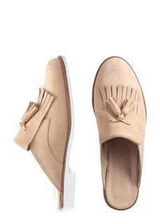 Кожаные пантолеты (телесный) Bonprix