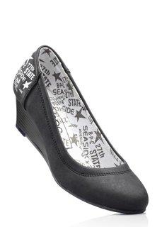Туфли на танкетке (светло-серый деним) Bonprix