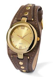 Часы (темно-красный/серебристый) Bonprix